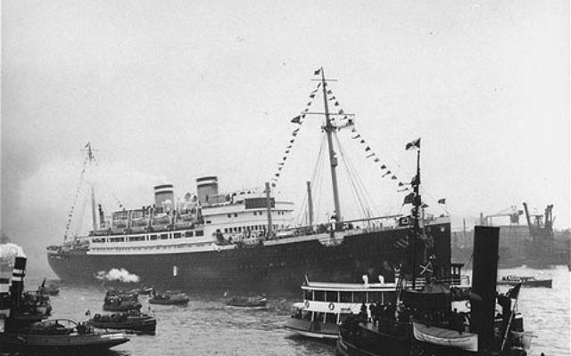 Le Saint Louis en direction de La Havane en 1939 (Crédit : Wikipédia)