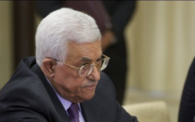 Le président de l'Autorité palestinienne Mahmoud Abbas, le 22 septembre 2015 (Crédit photo: IVAN SEKRETAREV / POOL / AFP )