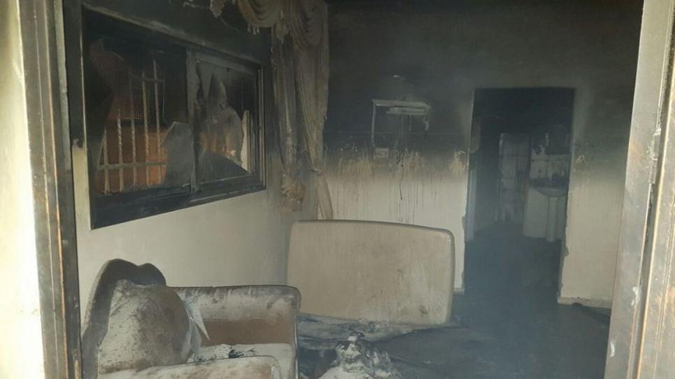 La maison brûlée de la famille Dawabsha dans le village palestinien de Duma, près de Naplouse, le 31 juillet 2015 (Crédit : Zacharia Sadeh / Rabbis for Human Rights)