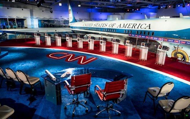 Le plateau du débat des candidats aux primaires du parti républicain organisé par la CNN le 16 septembre 2015 au Ronald Reagan Presidential Library and Museum à Simi Valley en Californie (Photo: page Facebook de la CNN)
