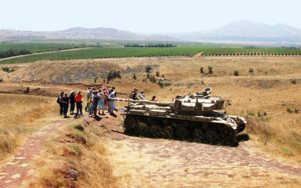 La Vallée des Larmes (Emek Habaha), où Israël a arrêté les Syriens en 1973 pendant la guerre de Kippour. (Crédit : Shmuel Bar-Am)