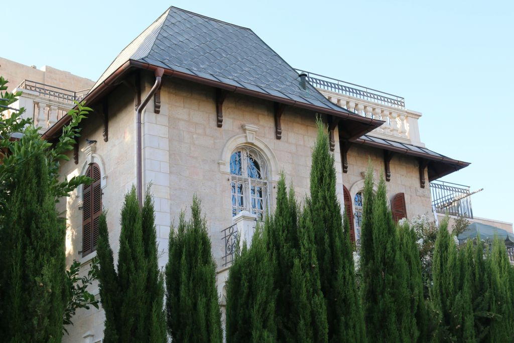 La maison construite par le fondateur de Romema, Yom Tov Hamon (Crédit : Shmuel Bar-Am)