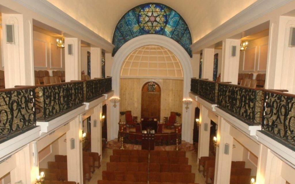 L'intérieur de la synagogue Bet Yisrael d'Istanbul. (Crédit : Autorisation de la communauté juive turque)