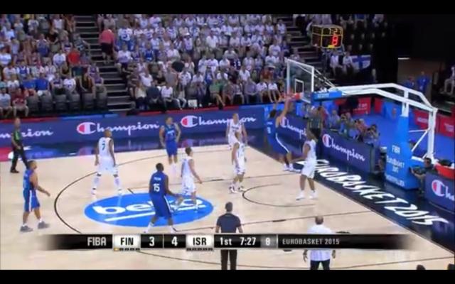 Capture d'écran YouTube : Finland v Israel - Group A - Game Highlights - EuroBasket 2015