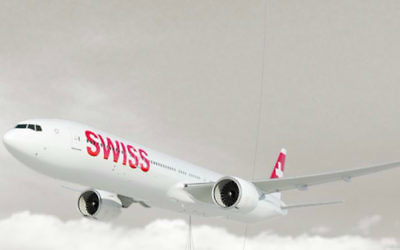 Un Boeing 777 de  Swissair (Crédit : Capture d'écran site Swissair)