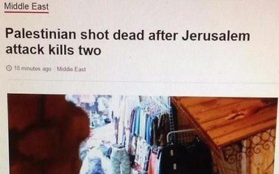 Capture écran du titre de la BBC incriminé