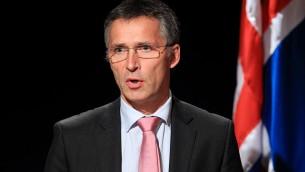 Jens Stoltenberg, secrétaire général de l'OTAN, en 2010. (Crédit : Magnus Fröderberg/CC BY 2.5 via WikiMedia Commons)