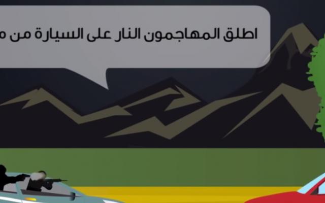Capture d'écran vidéo appelant à la violence (Crédit : YouTube)