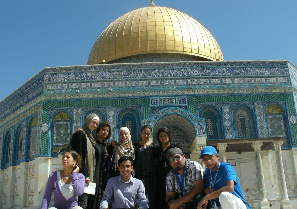 Un voyage Kiga en Israël en 2009 organisé pour des adolescents musulmans allemands (Crédit : Autorisation Kiga)