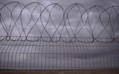 La clôture à la frontière entre Israël et Gaza. (Crédit : Tomer Neuberg / Flash90)