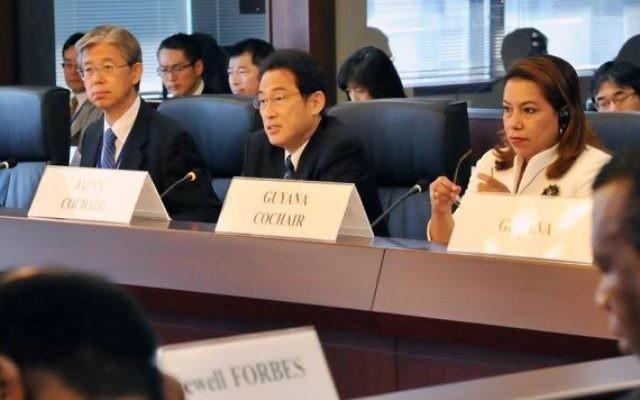 Le ministre japonais des Affaires étrangères Fumio Kishida (au centre) (Photo: sa page facebook)