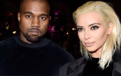 Kanye West et Kim Kardashian lors d'une courte visite en mars 2015. (Capture écran YouTube)