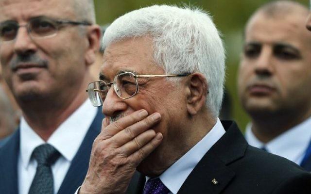 Le président de l'Autorité palestinienne Mahmoud Abbas au siège des Nations unies à New York, le 30 septembre 2015 (Crédit : Spencer Platt / Getty Images / AFP)
