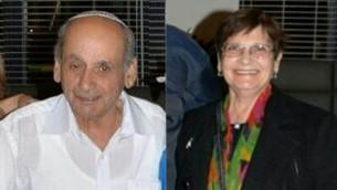 Haim Haviv, 78 ans, a été tué mardi 13 octobre 2015 pendant une attaque terroriste dans un bus dans le quartier d'Armon Hanatsiv de Jérusalem. Sa femme Shoshana a été hospitalisée dans un état grave (Crédit : Autorisation)