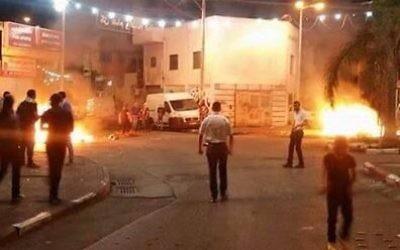 Une manifestation à Nazareth a tourné à la violence avec des manifestants s'affrontant aux forces de l'ordre (Crédit photo: Noor Hussein)