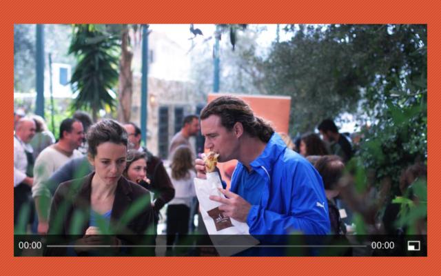 Capture d'écran : Arte « Goûts et saveurs d'Israël »