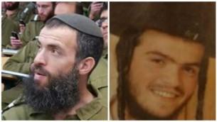Les victimes de l'attaque fatale de Jérusalem le samedi 3 octobre 2015 :Néhémie Lavi, 41 ans (à gauche) de Jérusalem, et Aharon Banita, 22 ans (droite) de Beitar Illit. (Crédit : Autorisation)