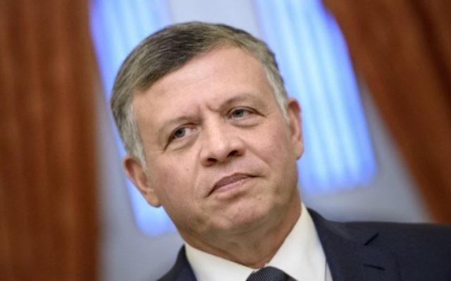 Le roi de Jordanie, Abdallah II (Crédit : AFP)