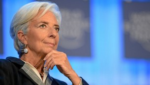 Christine Lagarde, présidente du FMI, au forum économique mondial à Davos en Suisse, le 25 janvier 2013 (Crédit : World Economic Forum from Cologny, Switzerland/CC-SA 2.0)