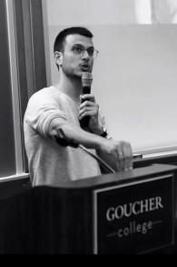 Assi Azar à l'université  Goucher à Baltimore, le 5 novembre 2015 (Crédit : Autorisation)