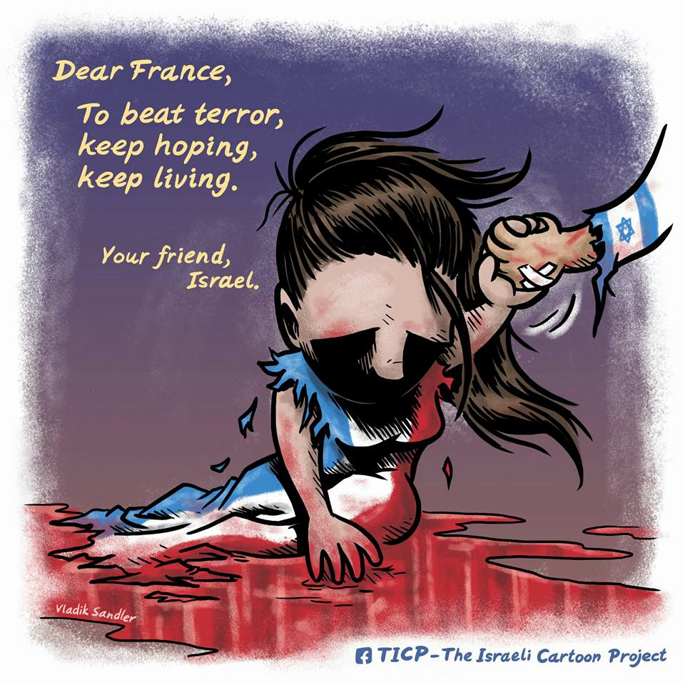 Dessin Vladik Sandler ולדיק סנדלר (Crédit : TICP - The Israeli Cartoon Project)