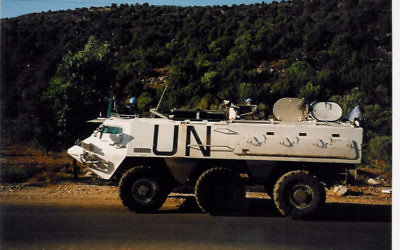 Un véhicule de la FINUL au Liban, le 30 novembre 2005. Illustration. (Crédit : CC BY SA 3.0/Wikimedia Commons)