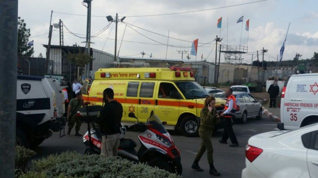 A Beitar Illit, après l'attaque du 8 novembre. (Crédit : MDA)