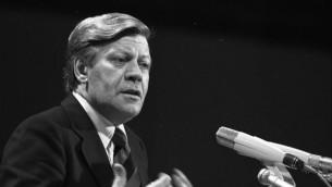 Helmut Schmidt, en 1976 (Crédit : Bundesarchiv, B 145 Bild-F048644-0035 / Wegmann, Ludwig / CC-BY-SA 3.0)