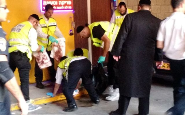 Scène de l'attaque au couteau à Tel Aviv, le 19 novembre 2015 (Crédit : Judah Ari Gross/Times of Israel)