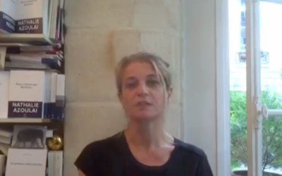 Nathalie Azoulai raconte son livre 'Titus n'aimait pas Bérénice', le 24 juin 2015 (Crédit : capture d'écran YouTube)
