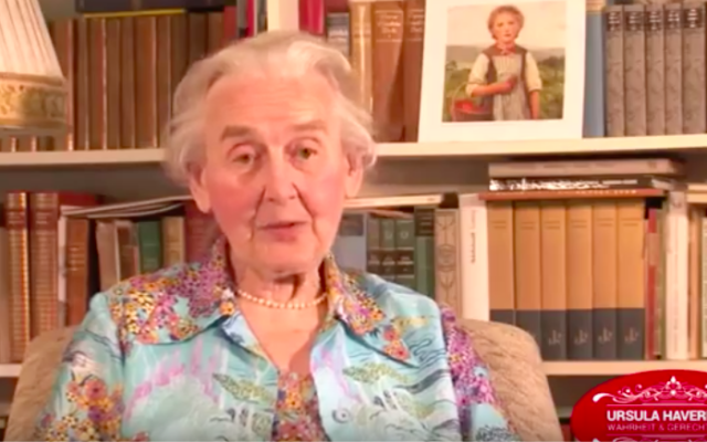 Ursula Haverbeck (Crédit : capture d'écran YouTube)
