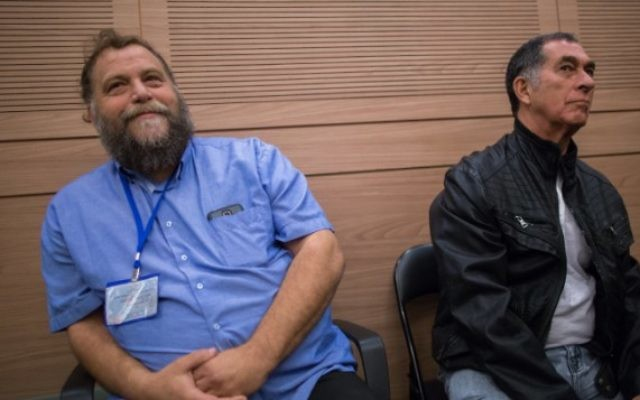 Le dirigeant de Lehava, Bentzi Gopstein, lors d'une réunion de la commission des Affaires intérieures à la Knesset, le 10 novembre 2015. (Crédit : Yonatan Sindel/Flash90)