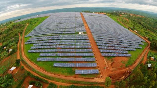 Vue aérienne du projet solaire de Gigawatt Global au Rwanda (Photo: Autorisation)