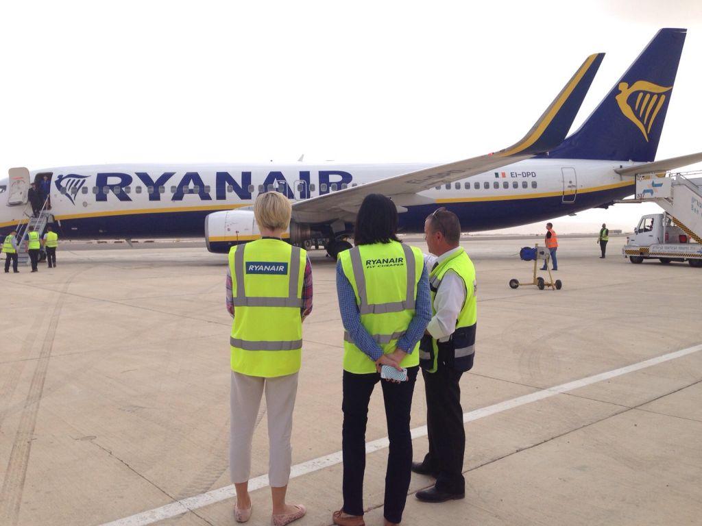 Vol inaugural de la compagnie aérienne Ryanair à Eilat (Crédit: ministère du Tourisme israélien)