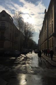 Une vue du ghetto de Lvov  en périphérie de la ville (Crédit : Jessica Steinberg / Times of Israël)