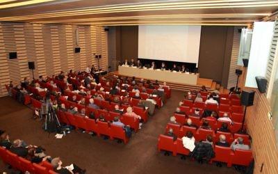 Dernier colloque du Bureau National de Vigilance Contre l'Antisémitisme à Paris le 22 octobre 2015 (Crédit : autorisation BNVCA)