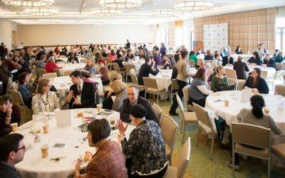 Le premier Ruderman Inclusion Summit a eu lieu au Seaport World Trade Center à Boston le 1er et le 2 novembre  2015 (Crédit : Noam Galai / via JTA)