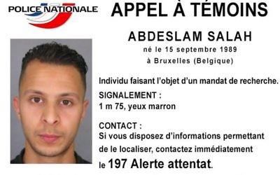 Le mandat d'arrêt publié contre le 8e terroriste des attentats de Paris Salah Abdeslam.
