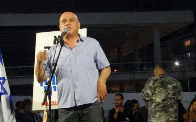 Le député Issawi Freij (Meretz) à Tel Aviv le 3 juillet 2014 (Photo: Melanie Lidman)