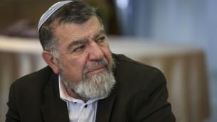 Le chef du Conseil régional de Samarie Gershon Mesika, le 7 février 2014 (Crédit photo: Hadas Parush / Flash90)
