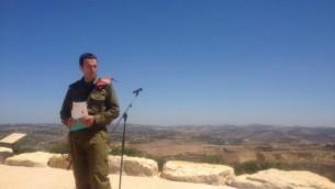 Herzl Halevi, alors commandant de la division de Galilée. (Crédit : Mitch Ginsburg/The Times of Israel)