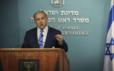 Le Premier Minister Benjamin Netanyahu (Crédit : Hadas Parush/ Flash90)