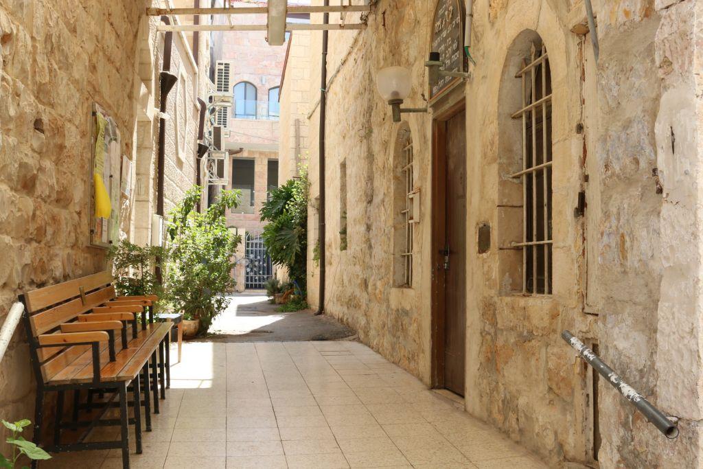 La synagogue Tarento à Ohel Moshe à Jérusalem (Crédit : Shmuel Bar-Am)