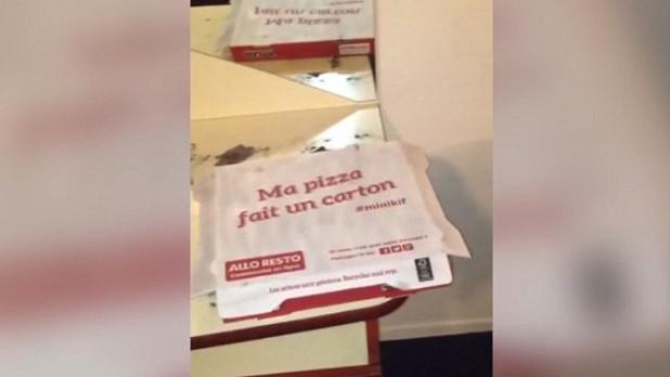 Capture d'écran d'une vidéo filmée par la police française dans l'une des deux chambres de l'hôtel qui auraient été louées par deux terroristes de Paris quelques jours  avant les attentats du 13 novembre à Paris. (Crédit : Capture d'écran / Le Point)