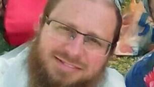 Le rabbin Yaakov Litman, qui a été assassiné avec son fils Netanel dans un attentat terroriste près de la ville de Hébron en Cisjordanie le 13 novembre 2015 (Crédit : Capture d'écran Deuxième chaîne)