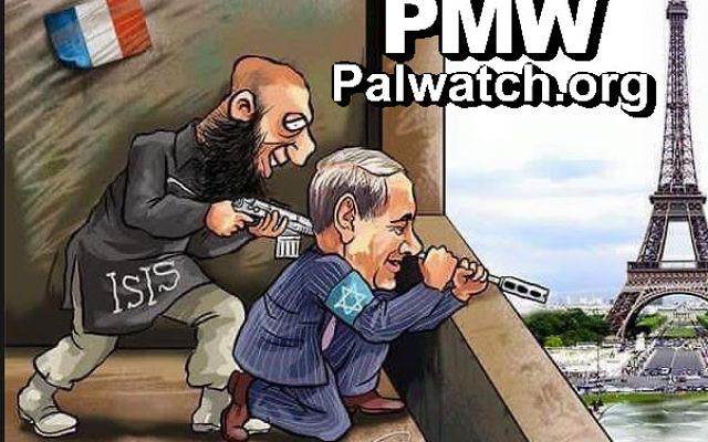Caricature publiée par le Fatah (Crédit: Palestinian Media Watch)