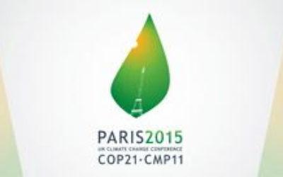 Logo de la COP 21 (Crédit : AFP)