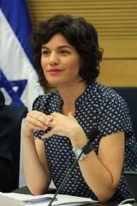 La députée Tamar Zandberg (Meretz) à une séance d'une commission parlementaire à la Knesset le 30 juin 2015 (Crédit photo: Issac Harari / Flash90)