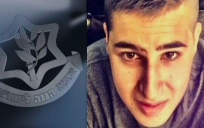 Le soldat Ziv Mizrahi, 18 ans, de Givat Ze'ev, a été tué dans une attaque au couteau à une station d'essence sur la route 443 en Cisjordanie le 23 novembre 2015 (Capture d'écran: Deuxième chaîne)