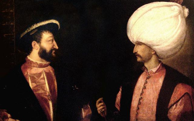 François Ier et Soliman le Magnifique inaugurèrent une alliance franco-ottomane vers 1530 (Crédit  Domaine public/ Le Titien)